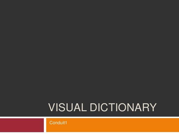 VISUAL DICTIONARY Conduit1