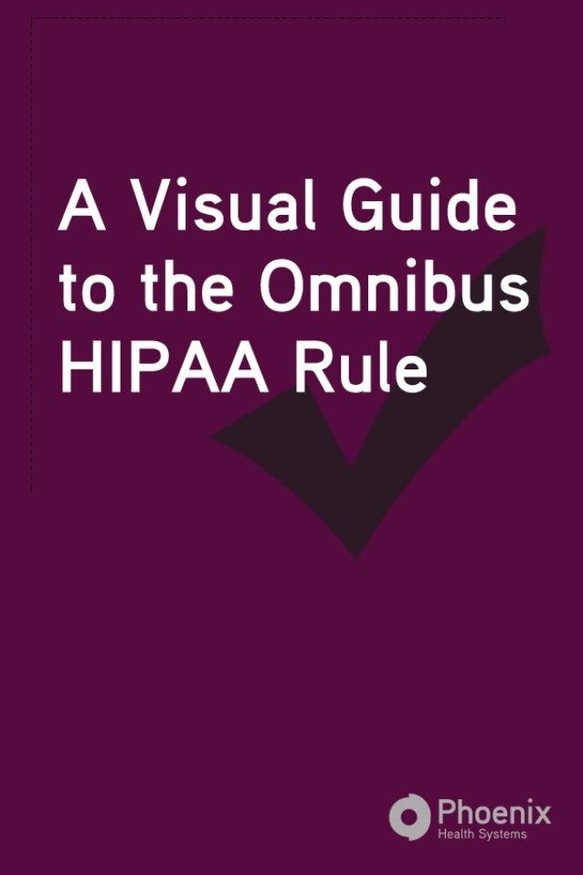 Visual Guide to Omnibus HIPAA
