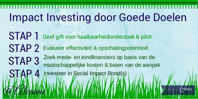 Visual  impact investing door goede doelen Stappenplan Slide2 EN