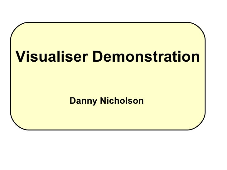 Visualiser Demonstration Danny Nicholson