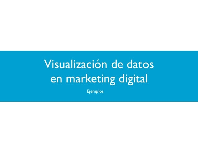 Visualización de datos en marketing digital Ejemplos