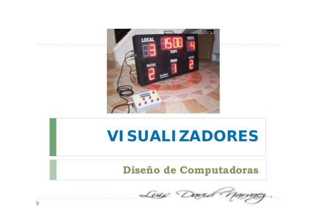 VISUALIZADORES Diseño de Computadoras