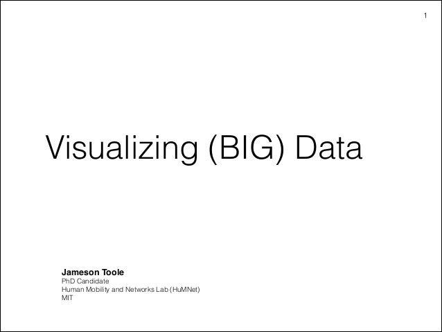 Visualizing (BIG) data.