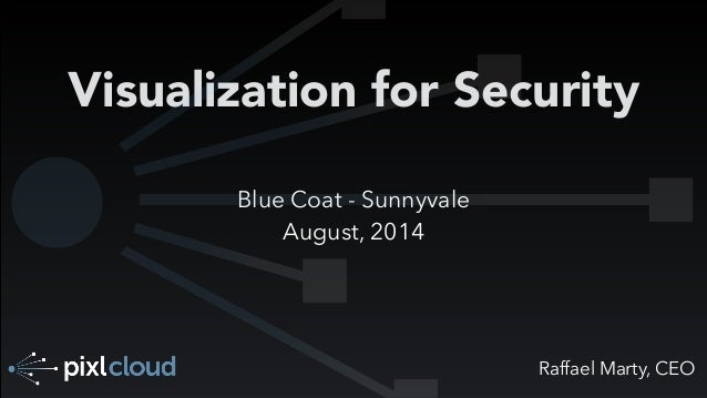 Raffael Marty, CEO Visualization for Security Blue Coat - Sunnyvale August, 2014