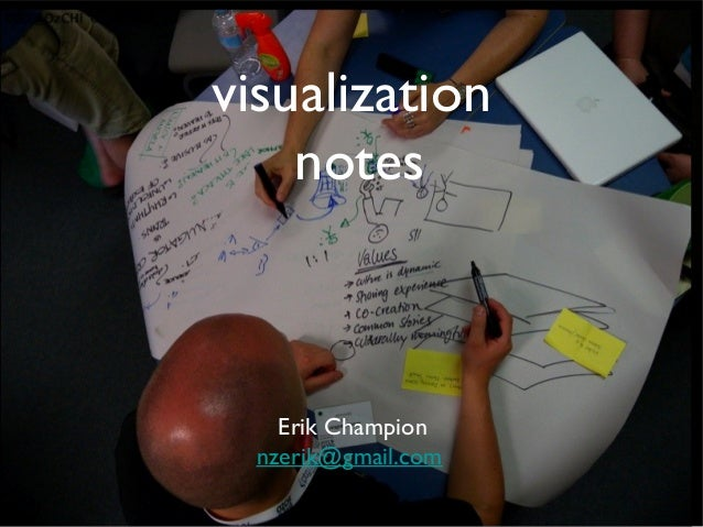 visualization notes  Erik Champion nzerik@gmail.com
