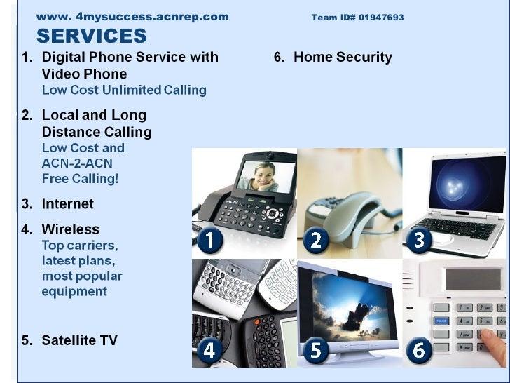 www. 4mysuccess.acnrep.com  Team ID# 01947693 SERVICES