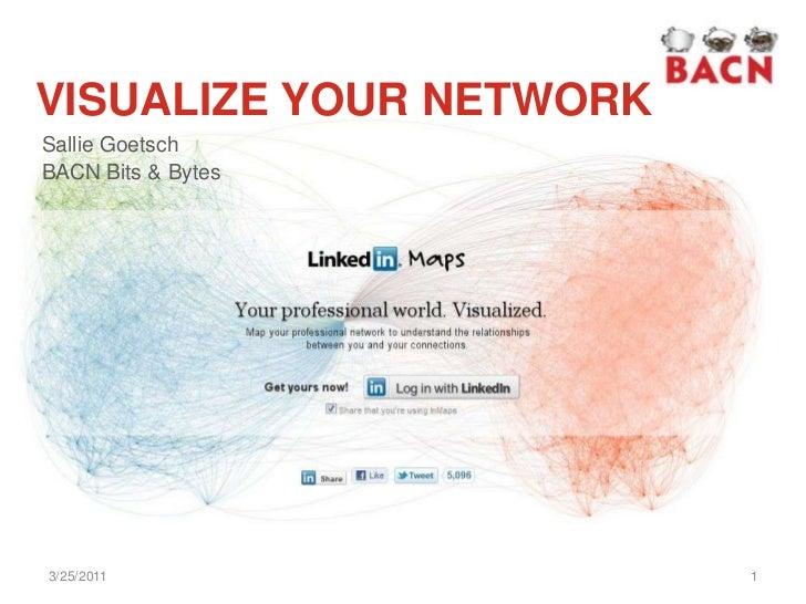 VISUALIZE YOUR NETWORK<br />Sallie Goetsch<br />BACN Bits & Bytes<br />3/23/2011<br />1<br />