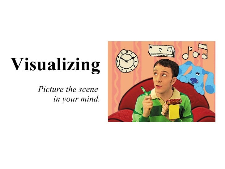 Visualizing Picture the scene  in your mind.