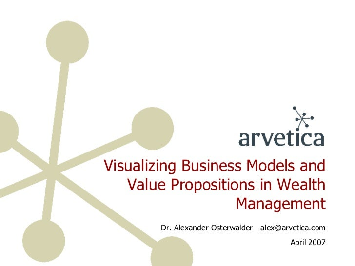 Visualizing Business Models and Value Propositions in Wealth Management Dr. Alexander Osterwalder - alex@arvetica.com Apri...