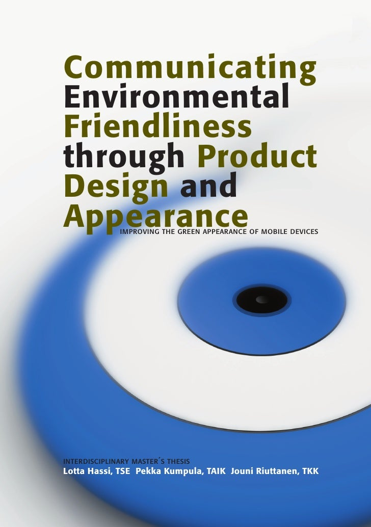 Communicating Environmental Friendliness through Product Design and Appearance