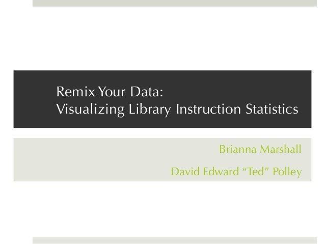 Remix Your Data: Visualizing Library Instruction Statistics