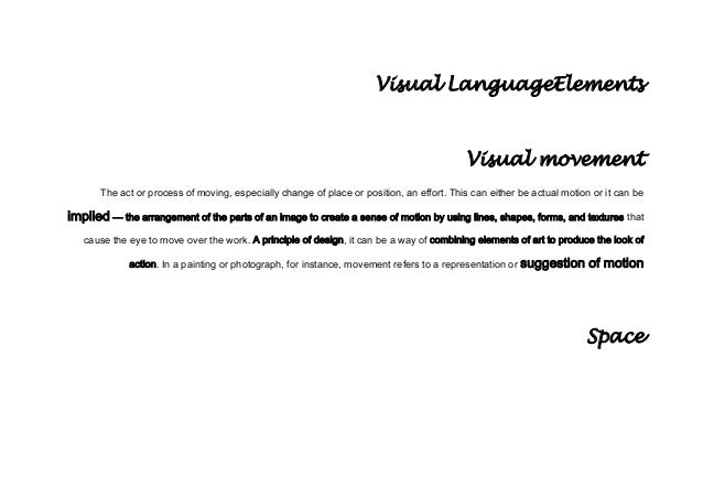 8th Visual language elements 1st quarter
