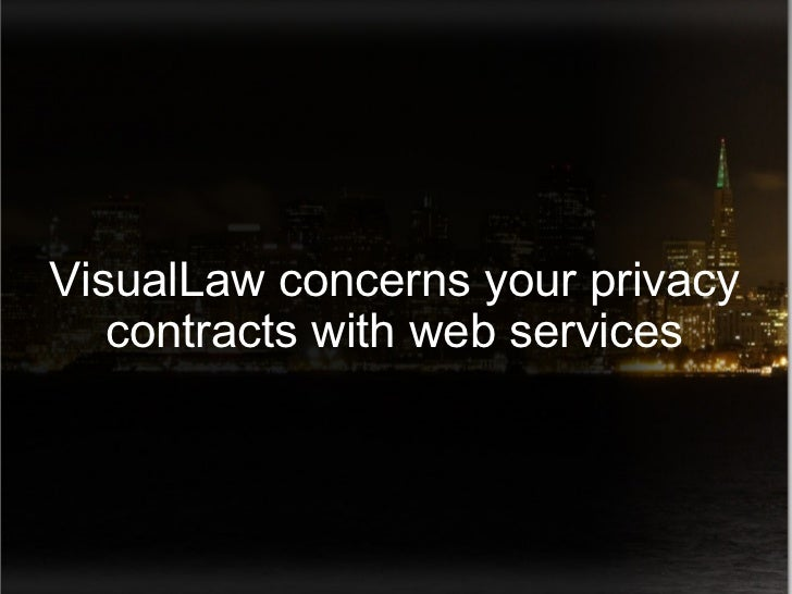 VisualLaw concerns your privacy contracts with web services