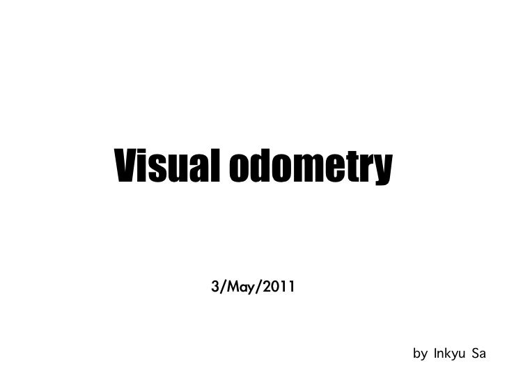 Visual odometry presentation_without_video