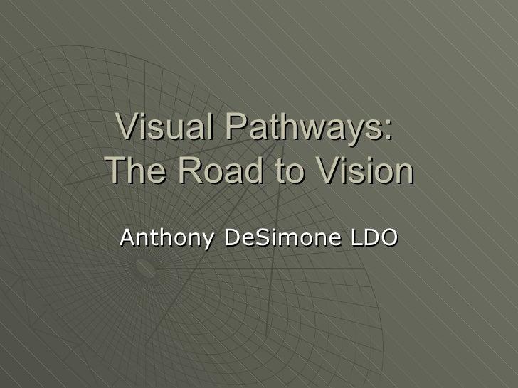 Visual Pathways:The Road to VisionAnthony DeSimone LDO