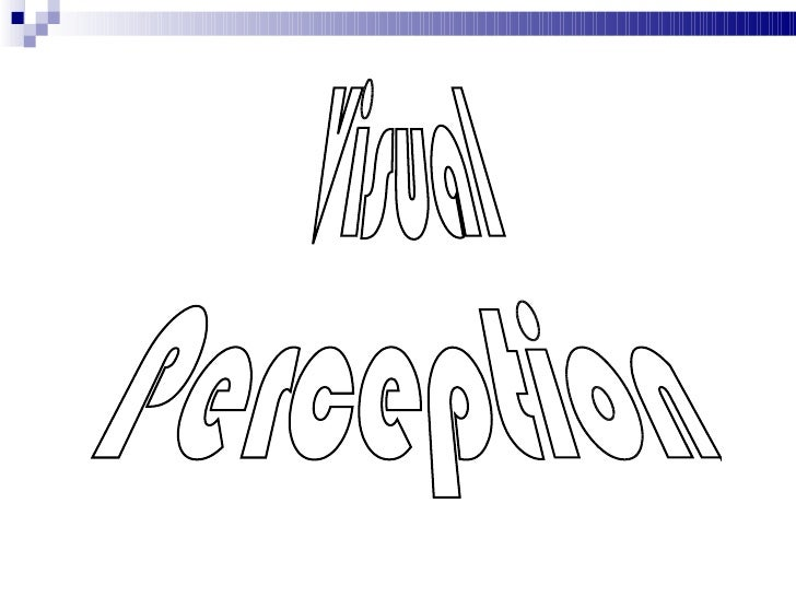 Front page Visual  Perception