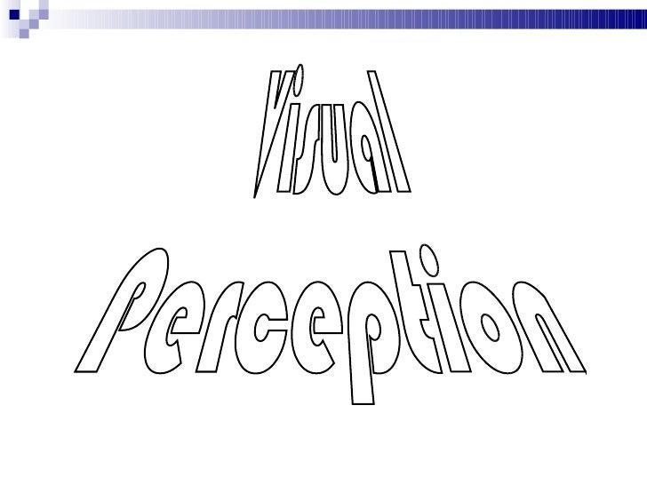 Visual perception 1