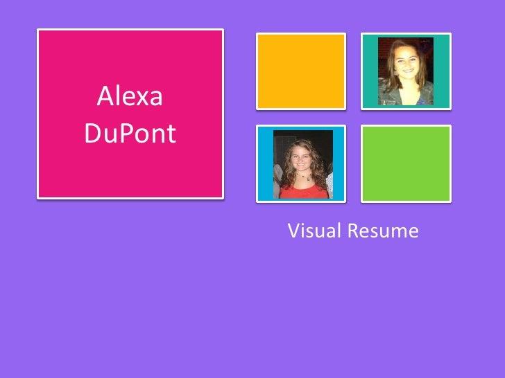 AlexaDuPont         Visual Resume