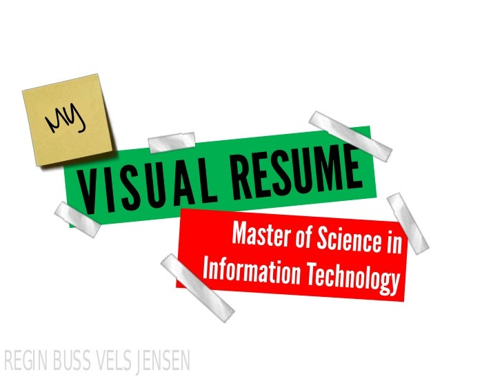 Visual resume