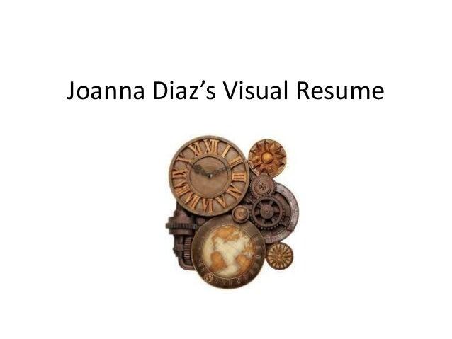 Joanna Diaz's Visual Resume