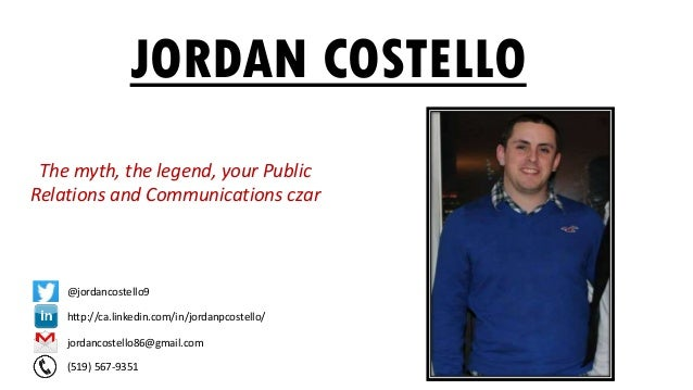 Introducing Jordan Costello, A Video Resume