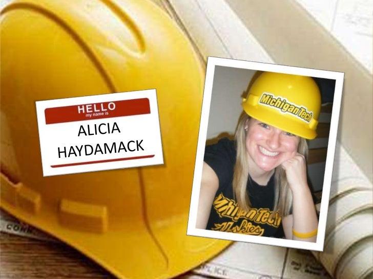 Alicia Haydamack Visual resume