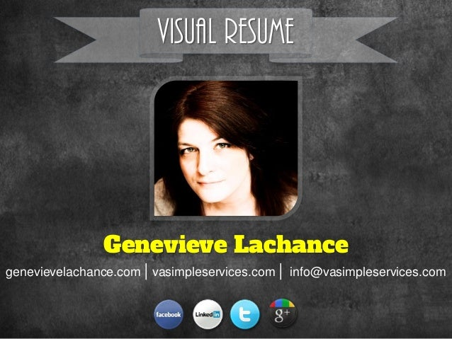 Visual resume genevieve lachance