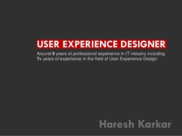 Haresh Karkar - Visual Resume
