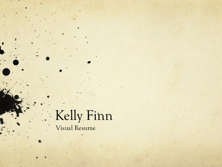 Kelly FinnVisual Resume