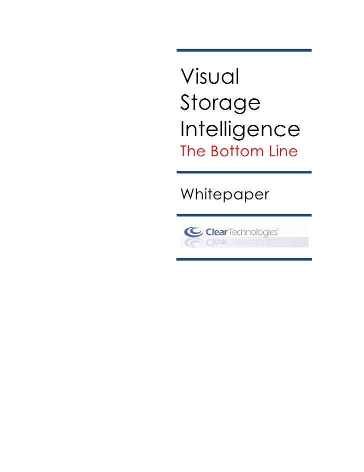 Visual Storage Intelligence Whitepaper