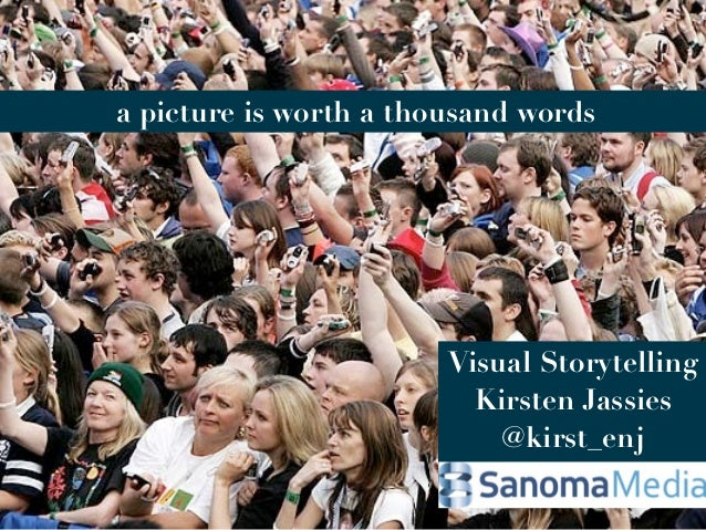 a picture is worth a thousand words                        Visual Storytelling                          Kirsten Jassies   ...