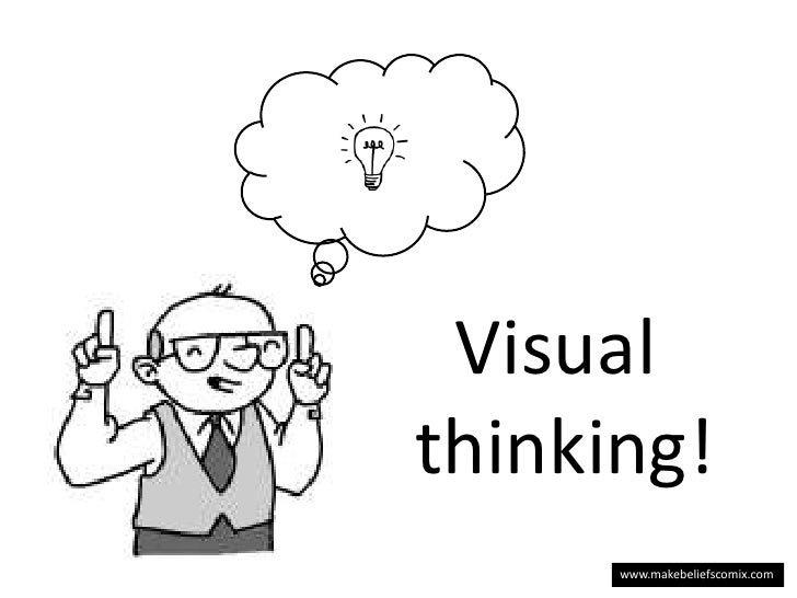 Visual <br />thinking!<br />www.makebeliefscomix.com<br />