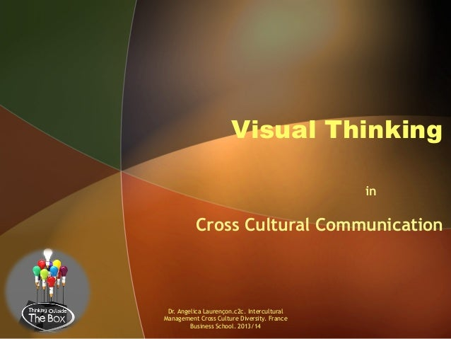 Visual Thinking in  Cross Cultural Communication  Dr. Angelica Laurençon.c2c. Intercultural Management Cross Culture Diver...
