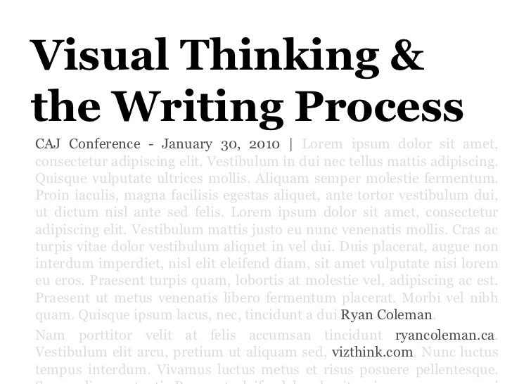 Visual Thinking & The Writing Process