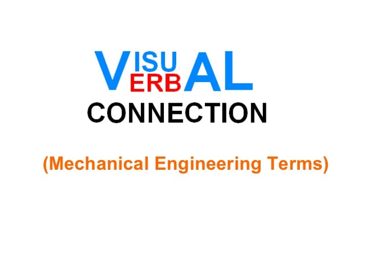 (Mechanical Engineering Terms)