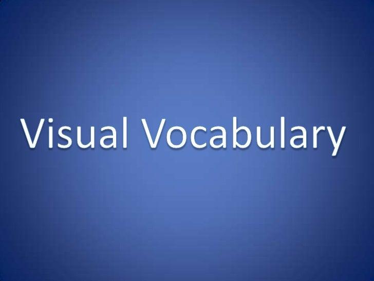 Visual Vocabulary<br />