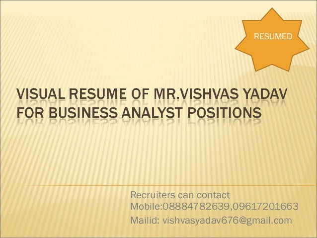 Visuval resume vishvas_business_analyst_exp_6.03_yrs