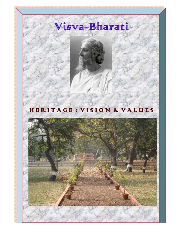 Visva-BharatiHERITAGE : VISION & VALUES