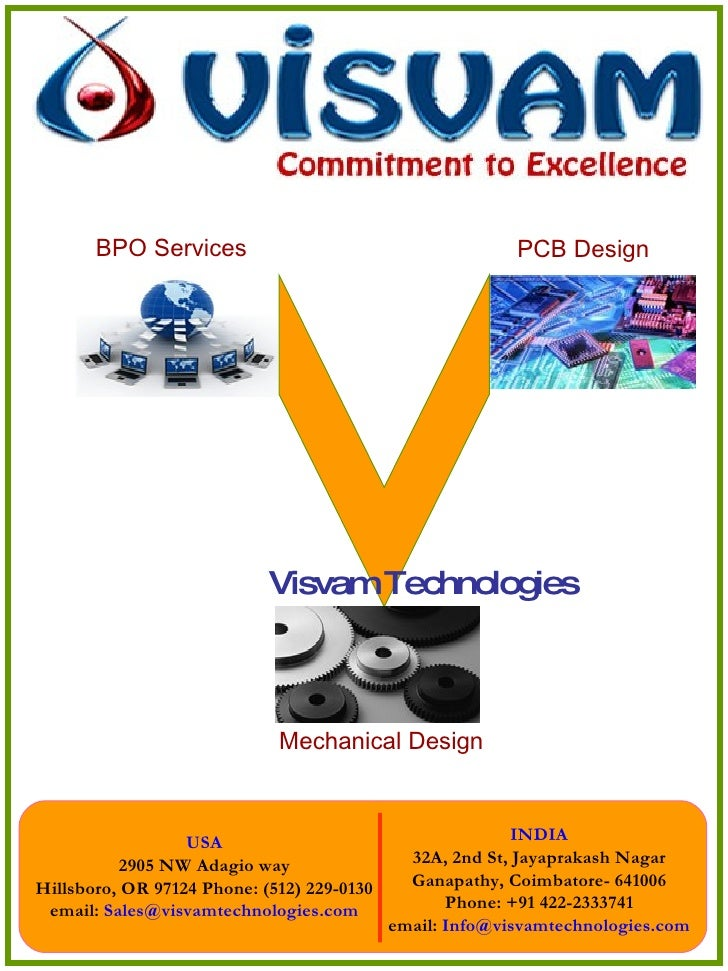 BPO Services PCB Design Mechanical Design Visvam Technologies