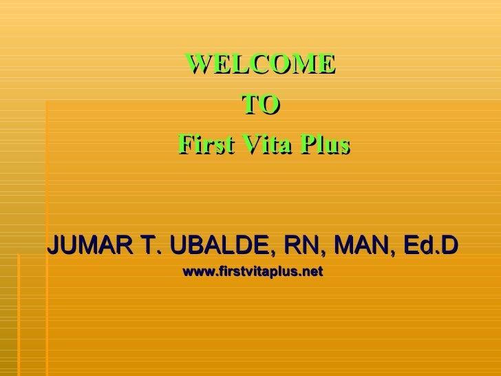 HEALTH AND WELLNESS PRESENTATION by: DR. JUMAR T. UBALDE