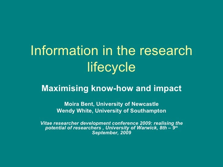 Information in the research lifecycle