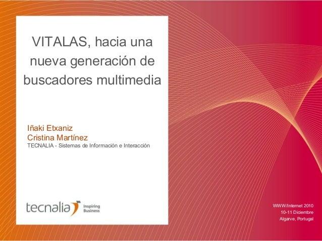 VITALAS, hacia una nueva generación de buscadores multimedia