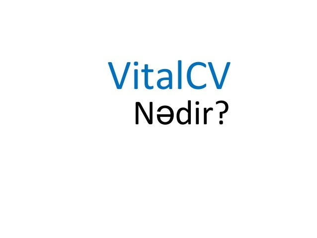 VitalCV Nədir?
