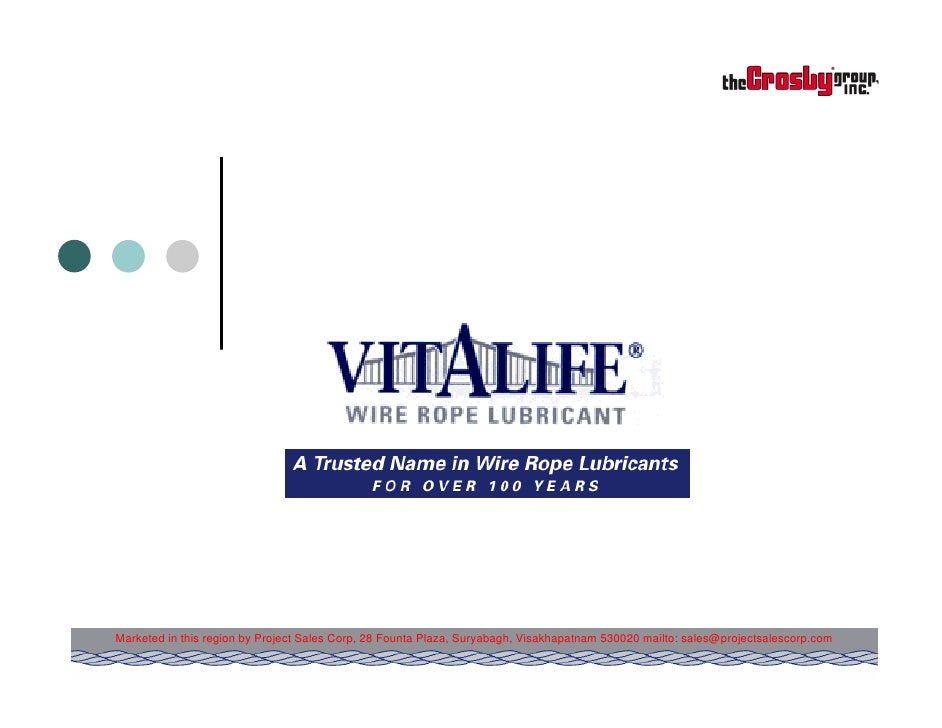 Vitalife Wire Rope Lubricants