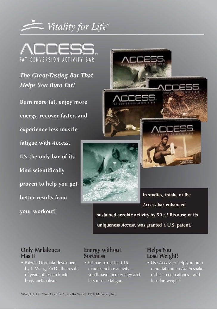Vitality access performance bar