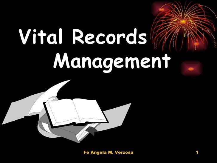 Vital Records   Management