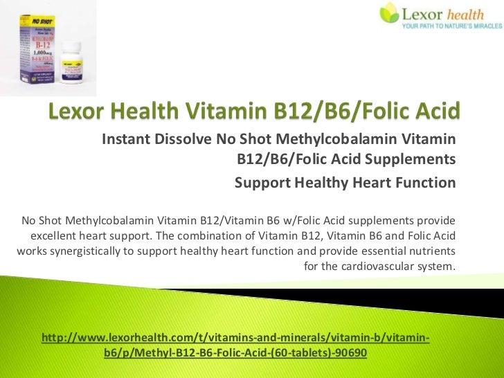 Instant Dissolve No Shot Methylcobalamin Vitamin                                   B12/B6/Folic Acid Supplements          ...