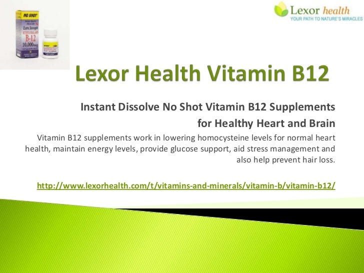 Instant Dissolve No Shot Vitamin B12 Supplements                                      for Healthy Heart and Brain   Vitami...