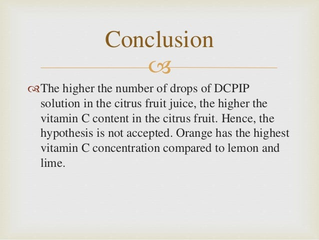 vitamin c dcpip 54 experiment starter sheet – investigating vitamin c a simple procedure to standardise the dcpip fo llows prepare the following solutions.