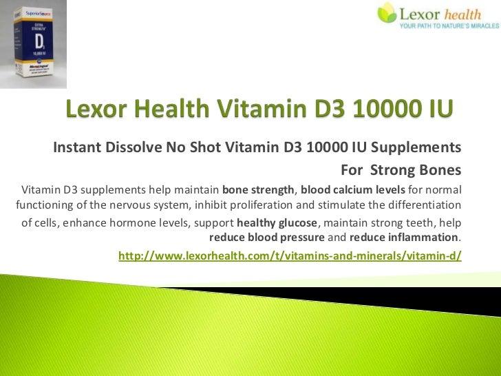 Instant Dissolve No Shot Vitamin D3 10000 IU Supplements                                               For Strong Bones Vi...